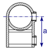 Interclamp 101R Reducing Short Tee Tube Clamp Fitting - Technical Drawing 2