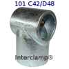 Interclamp 101R Reducing Short Tee Tube Clamp Fitting - Alternative Angle 2