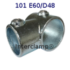 Interclamp 101R Reducing Short Tee Tube Clamp Fitting - Alternative Angle 3