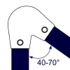 Interclamp 123 Acute Angle Elbow Tube Clamp Fitting - Technical Drawing 1