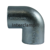 Interclamp 125 Two Way Elbow Tube Clamp Fitting - Alternative Angle 2