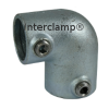 Interclamp 125R Reducing Two Way Elbow Tube Clamp Fitting - Alternative Angle 2