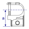 Interclamp 135 Clamp-on Tee Tube Clamp Fitting - Technical Drawing 2