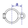 Interclamp 138 Gate Eye Tube Clamp Fitting - Technical Drawing 2