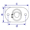 Interclamp 152 Slope Base Flange Tube Clamp Fitting - Technical Drawing 3