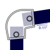 Interclamp 154 Slope Elbow Tube Clamp Fitting - Technical Drawing 1
