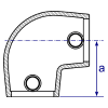 Interclamp 154 Slope Elbow Tube Clamp Fitting - Technical Drawing 3