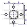 Interclamp 158 Centre Cross Tube Clamp Fitting - Technical Drawing 1