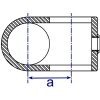 Interclamp 160 Clamp-on Crossover Tube Clamp Fitting - Technical Drawing 1