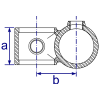 Interclamp 161 Offset Crossover Tube Clamp Fitting - Technical Drawing 1