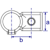 Interclamp 161 Offset Crossover Tube Clamp Fitting - Technical Drawing 2