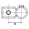 Interclamp 161R Reducing Offset Crossover Tube Clamp Fitting - Technical Drawing 1