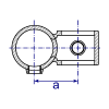 Interclamp 161R Reducing Offset Crossover Tube Clamp Fitting - Technical Drawing 2