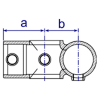 Interclamp 165 Combination Socket Tube Clamp Fitting - Technical Drawing 2