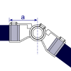 Interclamp 166 Adjustable Knuckle Tube Clamp Fitting - Technical Drawing 1