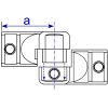 Interclamp 166 Adjustable Knuckle Tube Clamp Fitting - Technical Drawing 2