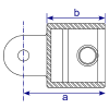 Interclamp 173F Single Swivel Combination Female Part Tube Clamp Fitting - Technical Drawing 1
