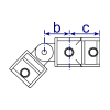 Interclamp 174 Swivel Tee Tube Clamp Fitting - Technical Drawing 1