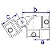 Interclamp 175 Swivel Elbow Tube Clamp Fitting - Technical Drawing
