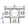Interclamp 176 Side Outlet Tee Tube Clamp Fitting - Technical Drawing 1
