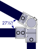 Interclamp 185 Eaves Fitting (27½°) Tube Clamp Fitting - Technical Drawing 1