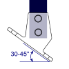Interclamp 251 Slope Base Flange (30º - 45º) Tube Clamp Fitting - Technical Drawing 1