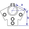 Interclamp 191 Ridge Fitting (27½°) Tube Clamp Fitting - Technical Drawing