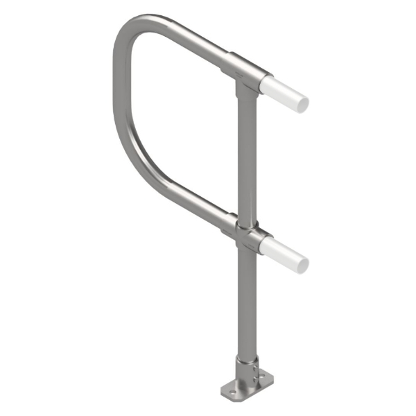 Interclamp Modular Handrail System - 4020 End post with D return