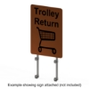 Interclamp TrolleyBay Sign Kit - Single Side - Showing Sign Attached (Not Included)
