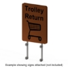 Interclamp trolley bay sign kit - double sided - example with signs attached (not included)