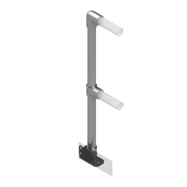 Interclamp 4030D48-FL-02 - End post for modular handrail system