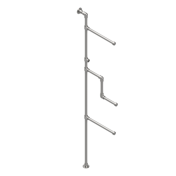 Interclamp GR0002 - Garment Rack Wall Mounted