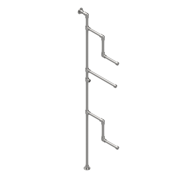 Interclamp GR0004  - Garment Rack (Floor and Wall Mounted)