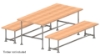 Interclamp tube clamp picnic table and benches