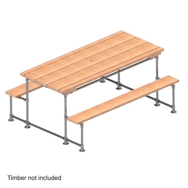 Interclamp tube clamp picnic table kit
